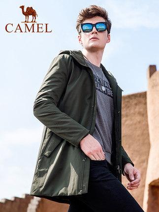 骆驼男装男士夹克2020新款春秋黑色休闲外套男潮冬季潮牌上衣