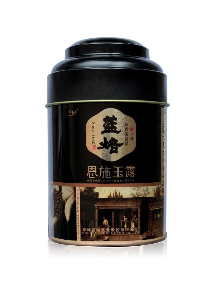 陆羽会蓝焙恩施玉露特级蒸青绿茶75克/罐