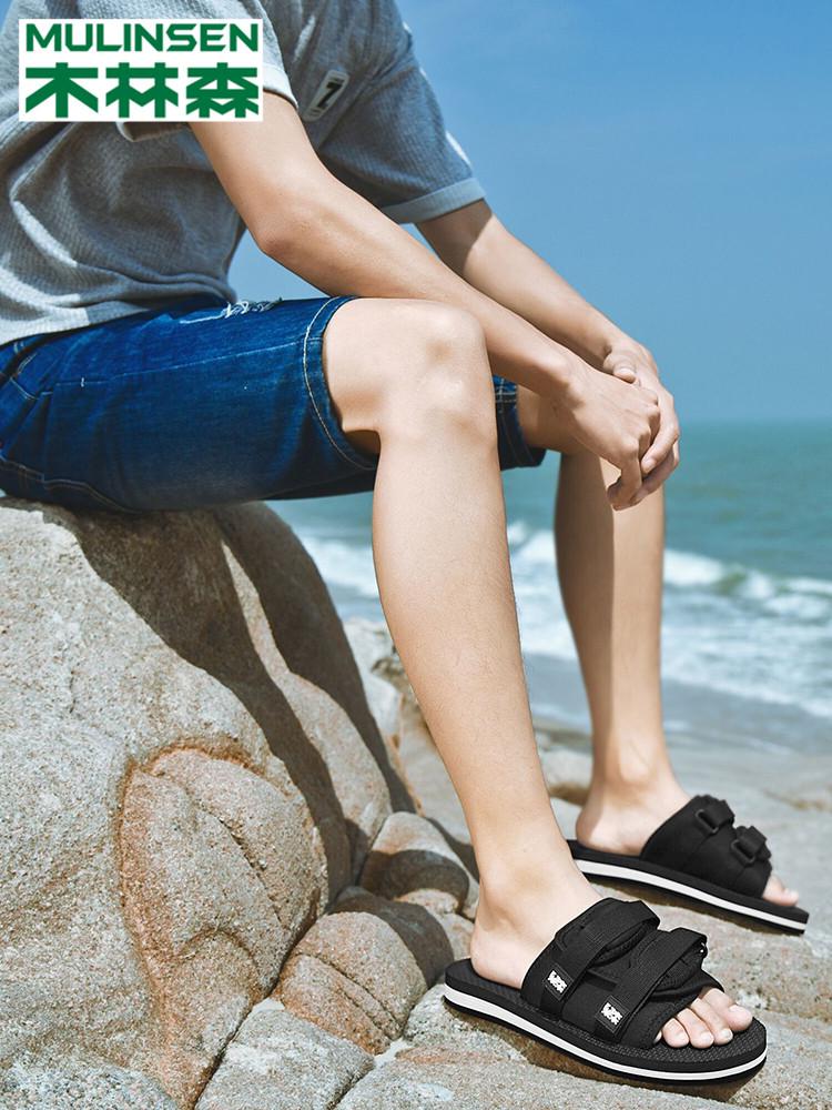 木林森 19年夏季新款 男式凉鞋拖鞋 聚划算+天猫优惠券折后¥59包邮(¥99-40)3色可选