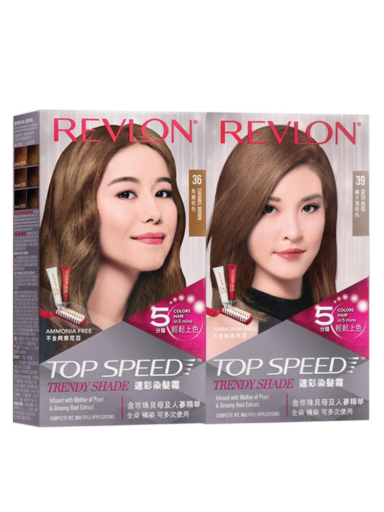 值哭!美国进口,一梳即染不伤发:2盒 Revlon露华浓 Top Speed 速彩染发霜