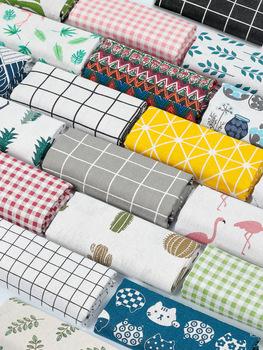 Ткани,  Льняная ткань хлопок материал сетка постельное белье скатерть ткань фон ткань ins вешать ткань занавес диван шапка обработанный, цена 61 руб