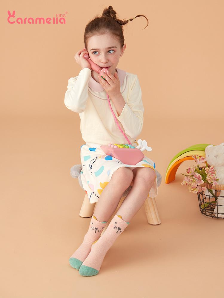 caramella 儿童中筒袜子*10双 双重优惠折后¥25.9包邮(拍5件)多款可选