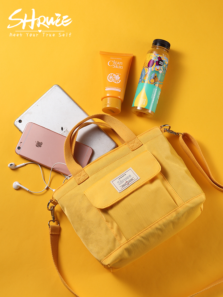 967d4e26b6 Canvas small bag female 2018 new wave Korean version of the wild student  Messenger bag personality