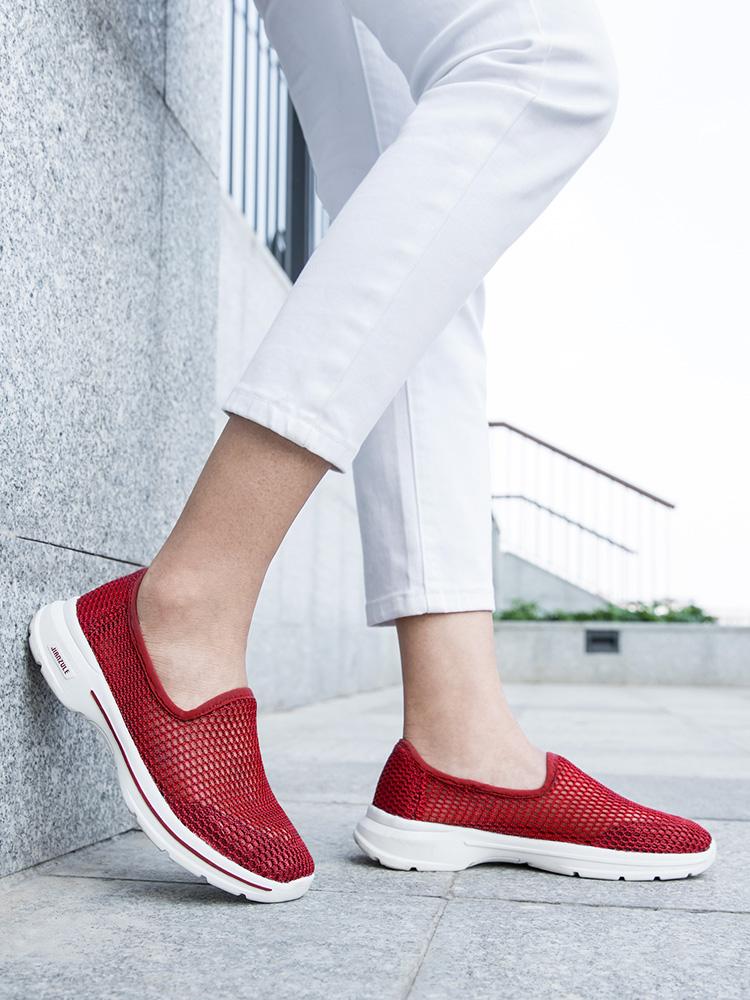 健足乐 老人鞋 单层网面健步鞋 聚划算+天猫优惠券折后¥78包邮(¥168-90) 男、女多色可选