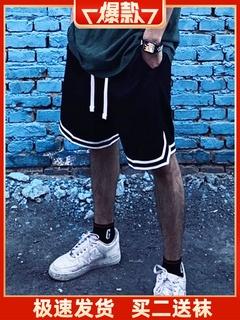 Шорты,  DNA баскетбол шорты мужчина свободный черный и белый цвет обучение бег фитнес брюки бедро шнурок движение пять минут штаны женщина, цена 901 руб
