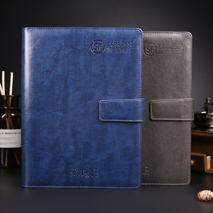 High-end business gift loose-leaf notebook set custom logo pen card bag Business card box imitation leather PU notepad