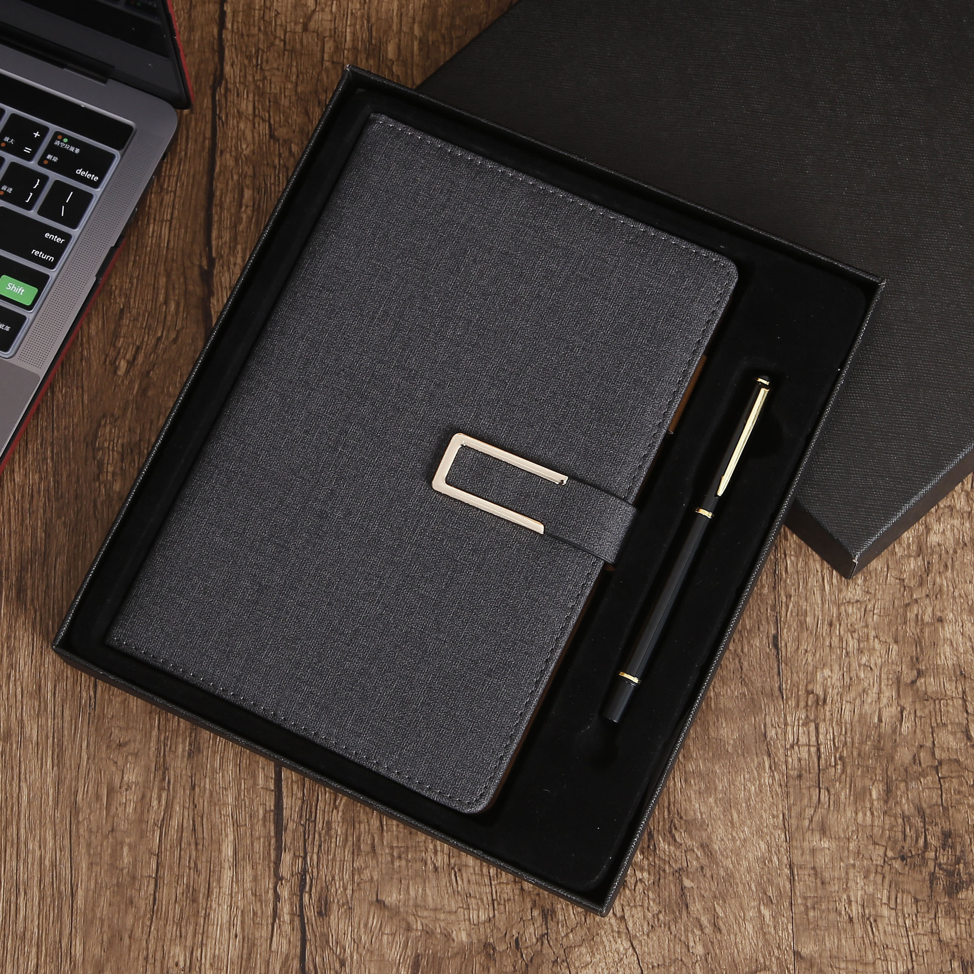 Custom logoA5 business suit notebook fabric PU business office notepad can be customized logo