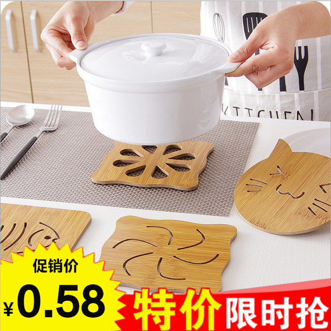 Heat-resistant wooden coasters Table mats Heat insulation mats Large thickened non-slip bowl mats Plate mats Casserole mats Anti-hot mats