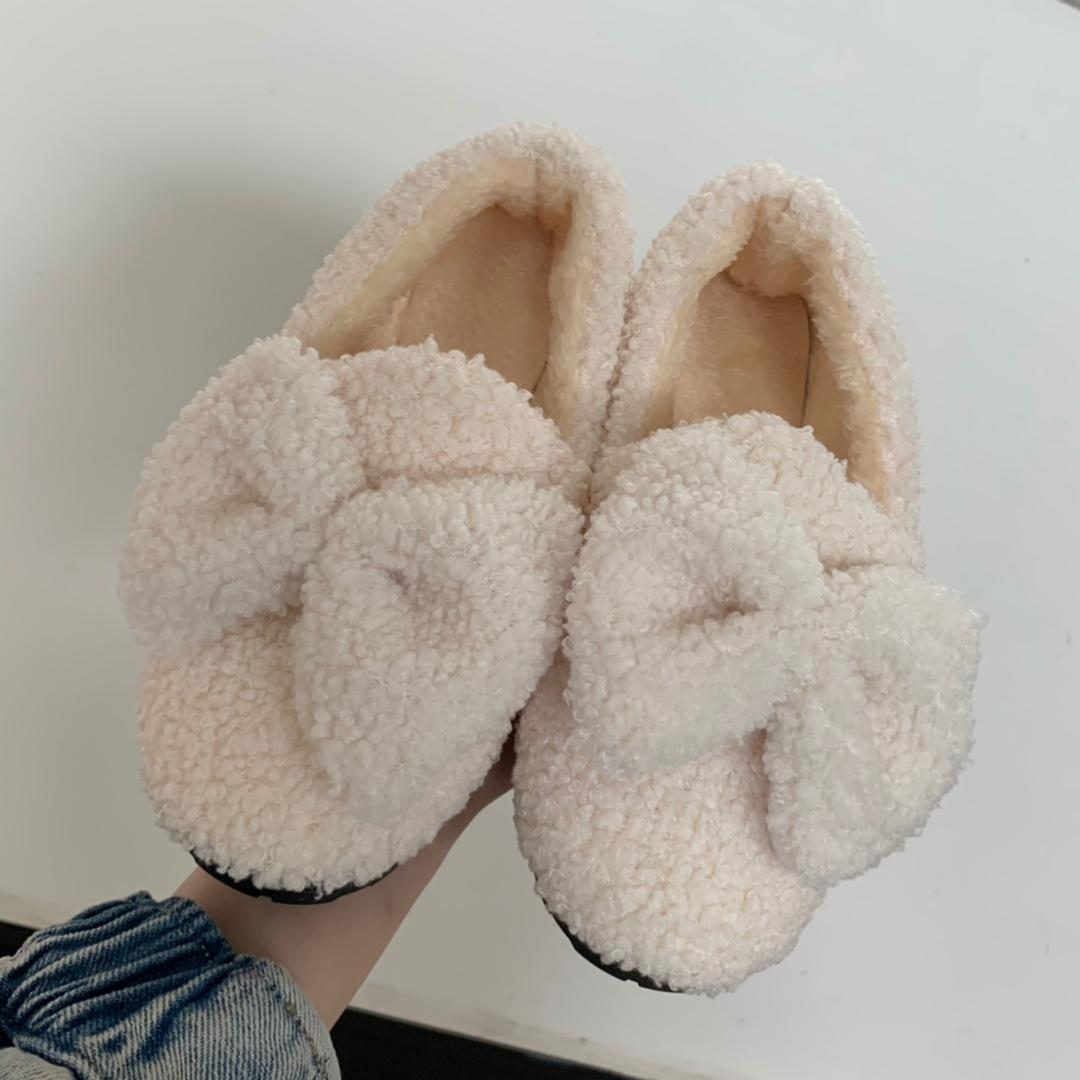 【纪玫兰】新款网红毛毛加绒低帮鞋