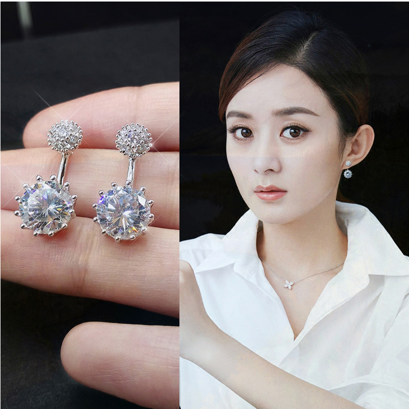 2021 new studs femininity Korean personality net red fashion simple sterling silver earrings 2020 earrings tide
