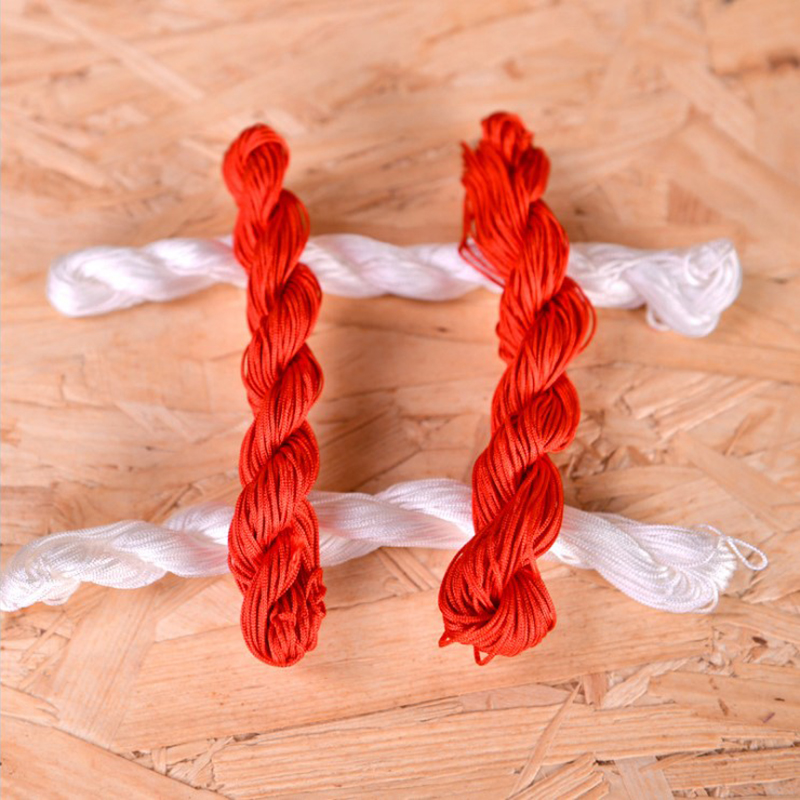 Wedding supplies Wedding red and white line Wedding couple decoration dowry Festive wedding room decoration supplies red and white rope