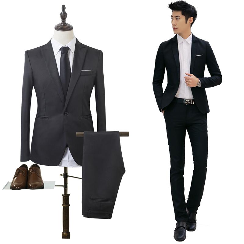 男士商务西服套装Men's business suits wedding Dress Suit Set