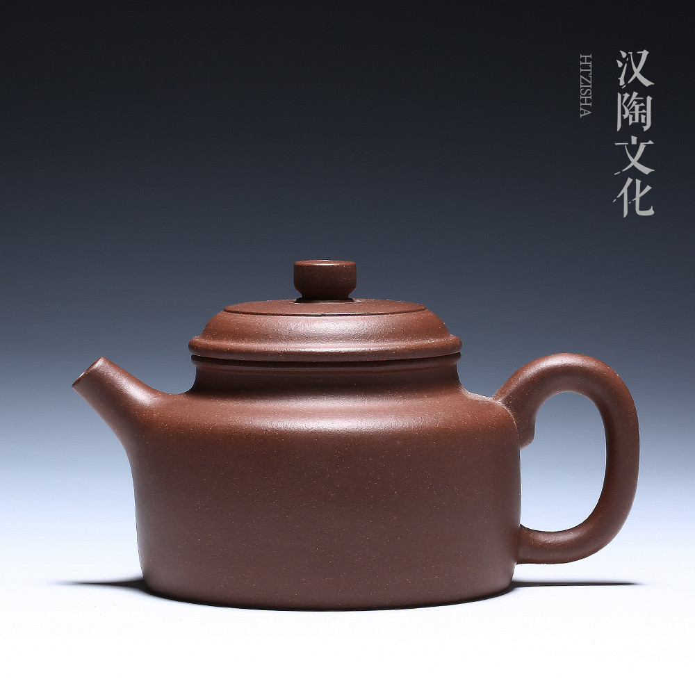 Yixing purple sand pot famous pure handmade ore old purple mud bottom groove Qingde bell pot Teapot tea set special