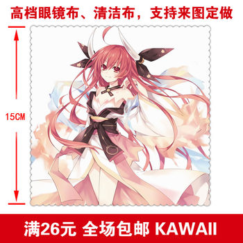 Free shipping over 26 animation game peripheral Date A Live phone screen cleaning cloth glasses cloth 88