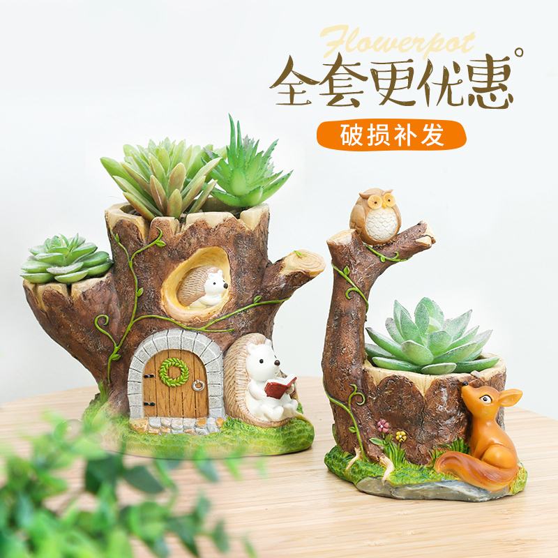 Usd 19 21 Original Cartoon Garden Forest Animal Tree Hole Flowerpot Micro Landscape Decoration Hedgehog Squirrel Small Swing Potted Flower Wholesale From China Online Shopping Buy Asian Products Online From The Best Watch online and download tree fu tom cartoon in high quality. original cartoon garden forest animal