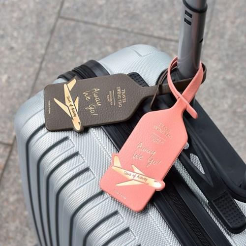PLEPIC Thẻ giả da Hàn Quốc thẻ hành lý nam và nữ thẻ kiểm tra thẻ kinh doanh thẻ túi mặt dây chuyền lên máy bay - Phụ kiện hành lý