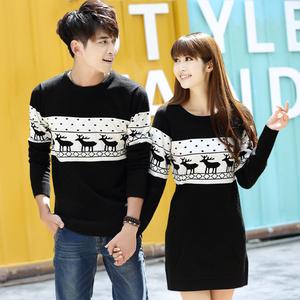 Cặp vợ chồng mùa thu và mùa đông quần áo 2018 mới áo len mùa xuân áo khoác nam giới và phụ nữ mặc Hàn Quốc phiên bản của áo len dài tay triều