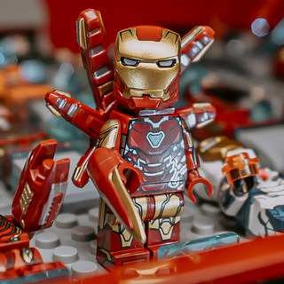 Lego Avengers 4 Final Battle Iron Man MK85 Tonistajku Wood assembled toy people