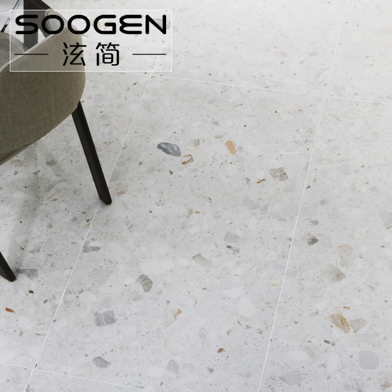 简 simple large particles of geese terrazzo tile 600x1200 living room  restaurant clothing store project wall tiles