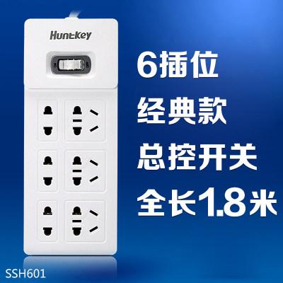 航嘉 SSH601 6插位插排1.8米线