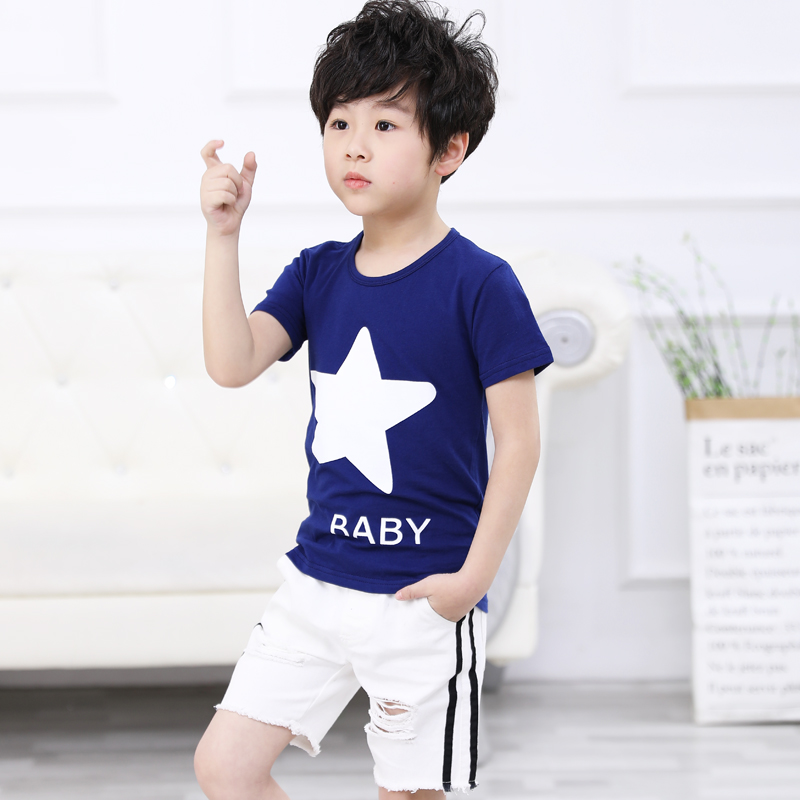 DARK BLUE FIVE-POINTED STAR JSJT SHIRT
