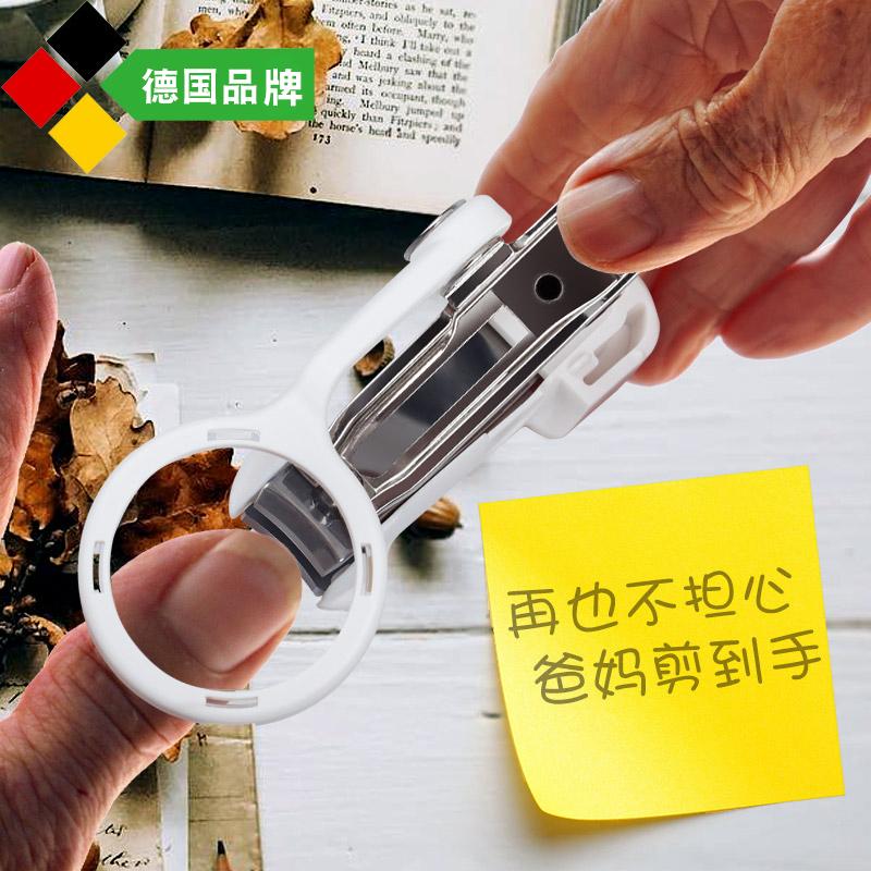 Германия с увеличением зеркало Ножницы для стрижки ногтей толстая Ножницы для ногтей