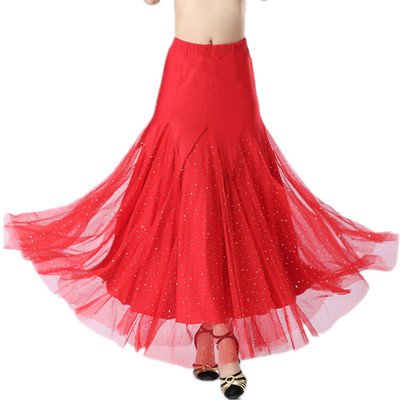 Women's Ballroom Dance Dresses Modern skirt, bust skirt, friendship dress, Waltz national standard skirt