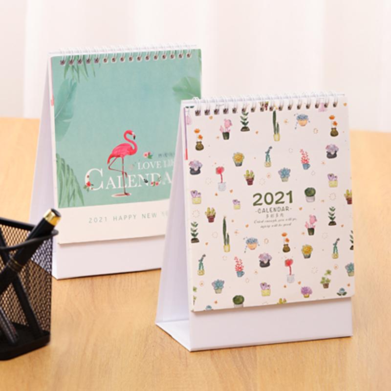 台历2020年创意简约办公计划本式文艺记事可爱桌面摆件月历每日ins风2021年历定制牛年工作打卡小日历本印刷
