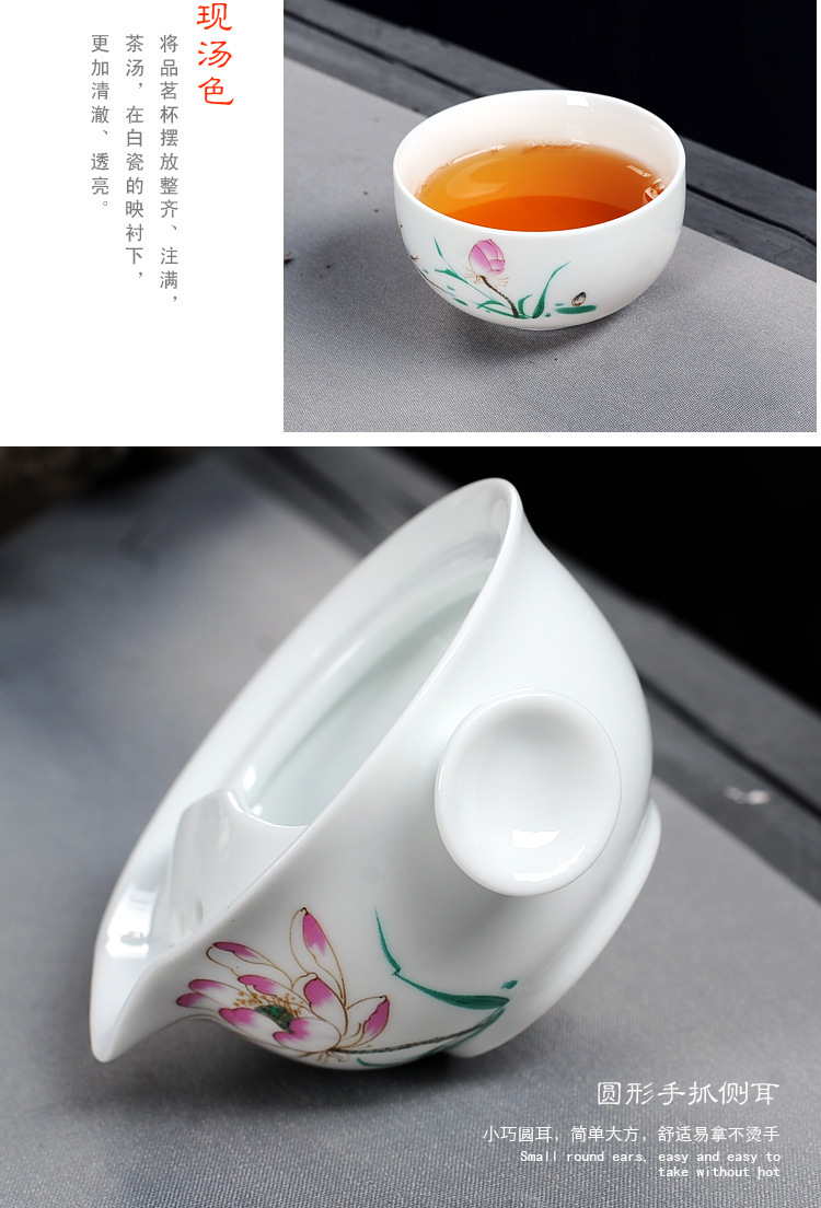Nhanh chóng Cup Một Nồi Một Cốc Cốc Tay Màu Xanh và Trắng Gốm Du Lịch Xách Tay Tea Set Văn Phòng Trà Ấm Trà