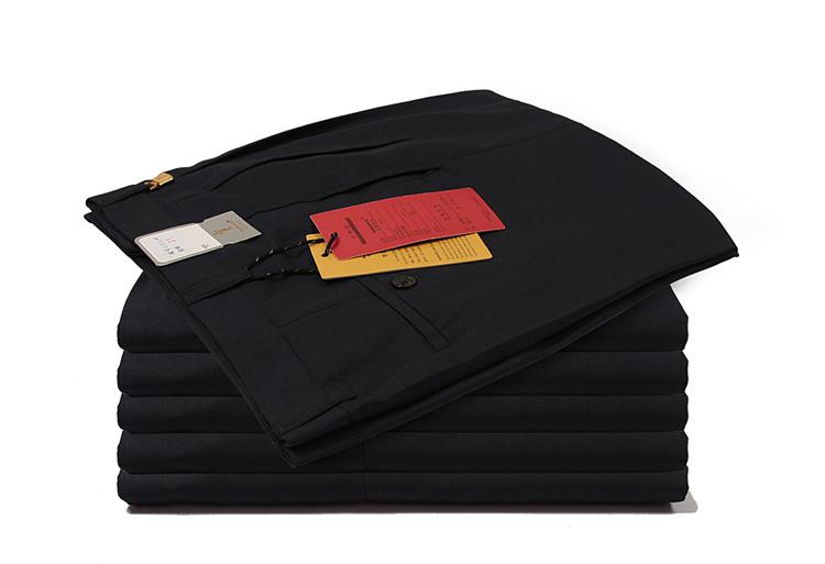 Của nam giới thẳng quần lỏng trung niên thanh niên kích thước lớn màu đen mùa xuân và mùa hè phần mỏng miễn phí ủi kinh doanh bình thường phù hợp với quần