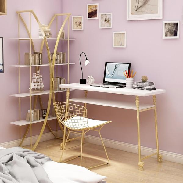 北欧创意电脑桌简约现代卧室ins书桌小户型简易家用工作台