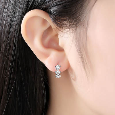 ec09dcfa6 925 sterling silver hypoallergenic earrings female simple temperament ...
