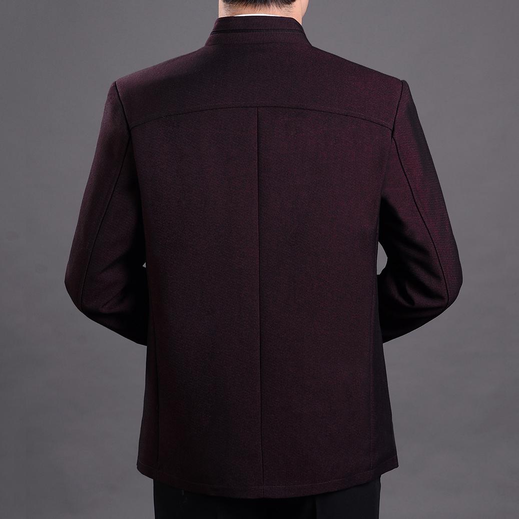 Người đàn ông trung niên và lớn tuổi của cha, Parker, mùa xuân và mùa thu áo, đứng cổ áo, đơn hàng nút áo jacket