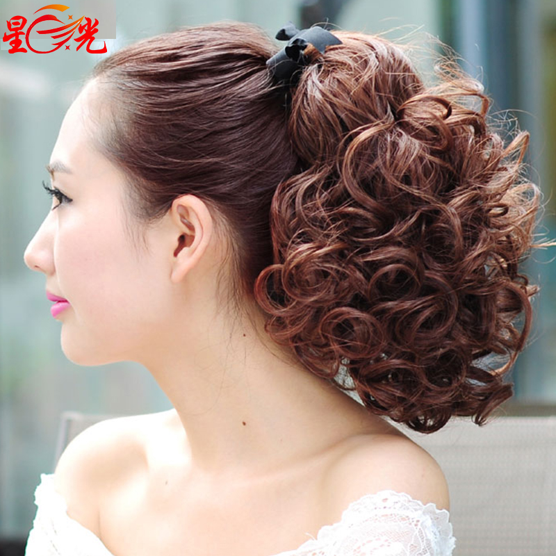 Usd 24 38 Short Curly Wig Female Ponytail Strap Style Clip And Roll Short Haired Wig Short Haired Short Big Wave Long Curls Wholesale From China Online Shopping Buy Asian Products Online From The Best Shoping