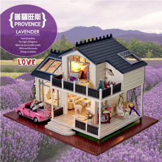Модели квартир, домов,  Мудрость интерес дом diy кабина прованс ручной работы собранный дом модель вилла игрушка творческий день рождения подарок женщина, цена 3976 руб