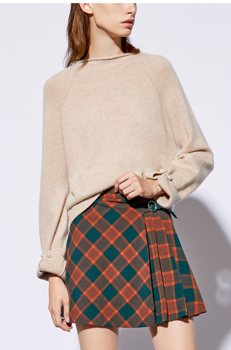 Lily2018冬韩新款女装压褶设计短裙半身裙 3