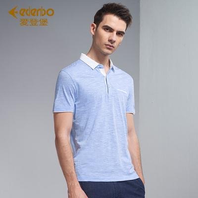 Edenbo Edenberg nam mùa hè mới ngắn tay T-Shirt nam áo sơ mi Polo áo sơ mi nam đáy T-Shirt nam áo polo đỏ Polo