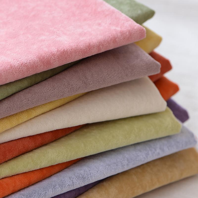 定做纯色柜台抱枕飘窗垫沙发面料高档植绒布料绒布套冰花布料加厚