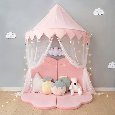 ins children's tent indoor princess room game house wall hanging bedside decoration bed curtain reading corner hanging tent for boys and girls