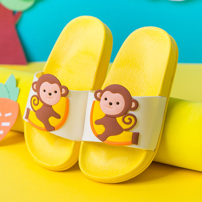 Children's slippers summer boys and girls home bathroom bathing anti-slip soft bottom cartoon cute child baby sandals slippers