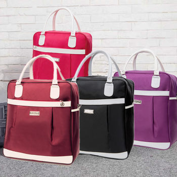 Bags short simple small portable Korean women can be hand-held sets trolley travel bag waterproof oxford cloth