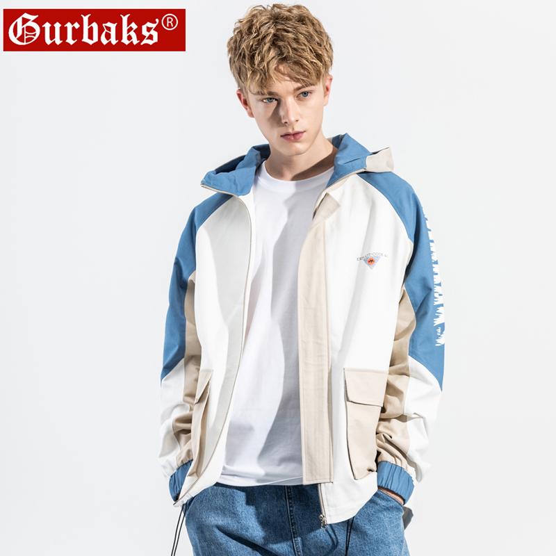 Áo khoác nam 2020 mùa xuân và mùa thu mới thường xuyên nam giới xu hướng màu sắc phù hợp với ngọn áo dụng cụ dụng cụ áo gió nam - Áo khoác đôi