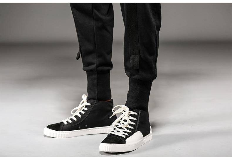 Gurbaks hip hop quần âu nam mát mẻ xu hướng đẹp trai Harlan thu hẹp chân dây kéo quần âu nam GX9531
