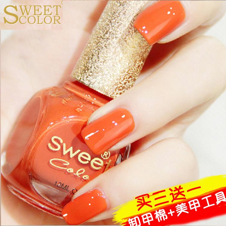 Usd 10 40 Sweet Color Nail Polish Set Non Peelable Waterproof Non