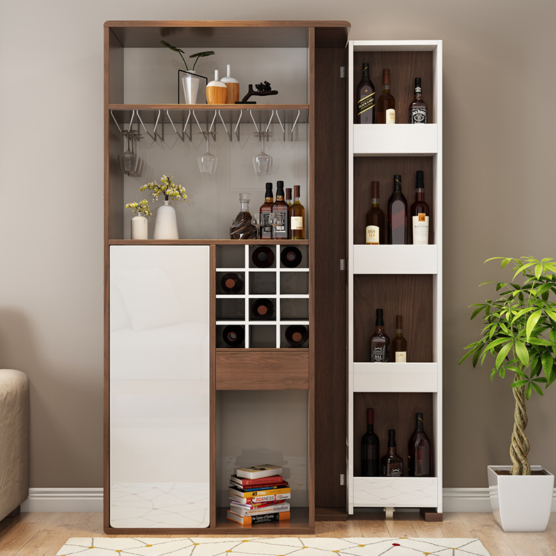 Le Private Modern Minimalist Folding Telescopic Small Bar Table Living Room  Wine Cabinet Home Porch Cabinet Partition Cabinet Hall Cabinet