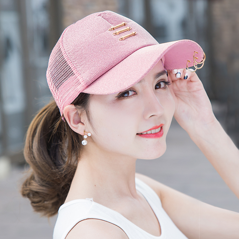 5b67c49363f Baseball hat female summer Korean tide sun hat iron ring cap outdoor  leisure sun visor net
