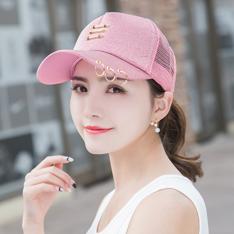10289e65806 Baseball hat female summer Korean tide sun hat iron ring cap outdoor leisure  sun visor net. Zoom · lightbox moreview · lightbox moreview ...