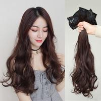Кусок парик большой волны длинный рулон без След невидимая замена волос женский парик прямые волосы маленький кусок волос