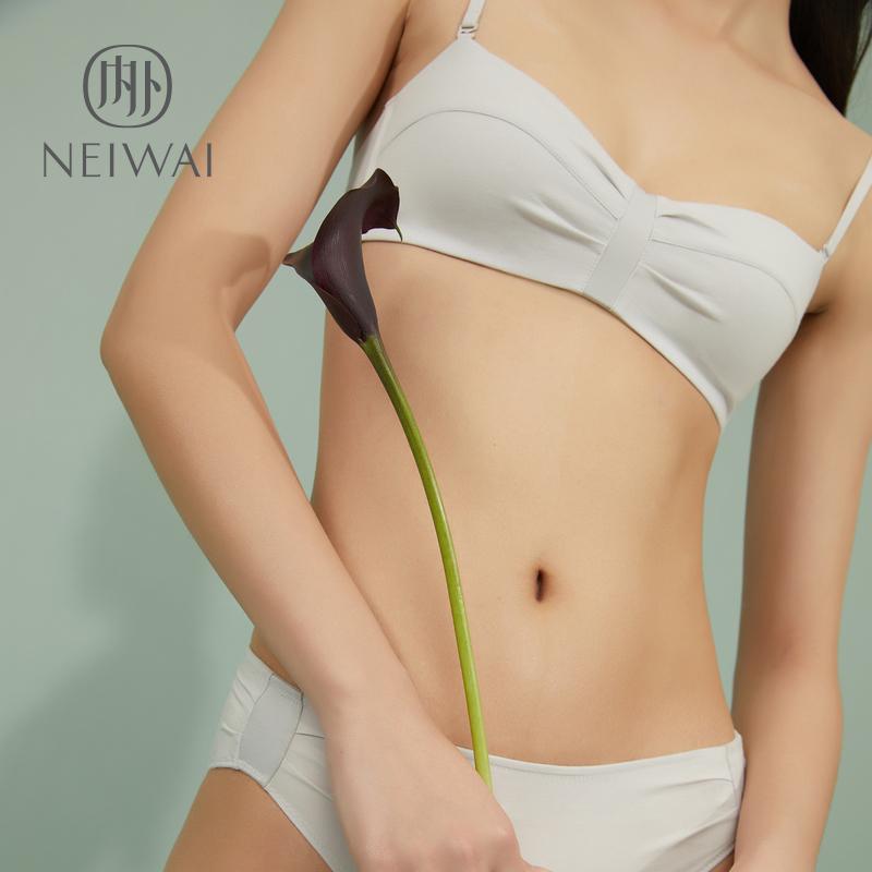 [Du Fu cùng một đoạn áo ngực 3 miếng 95% off] NEIWAI bên trong và bên ngoài zero-nhạy cảm nếp gấp loạt không có vòng thép áo ngực đồ lót