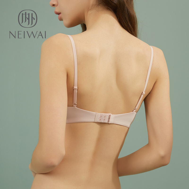 cf8d6fdaad9 Du Fu with the same paragraph zero-sensitive pleated small chest underwear  female no steel ring bra ...